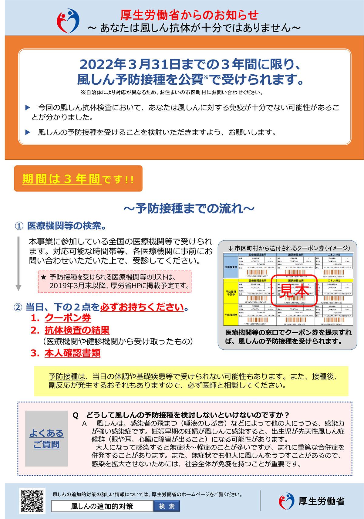 抗体 クーポン 風疹 検査